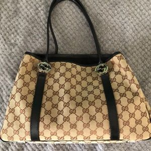 Gucci Canvas GG Twins ToteBag